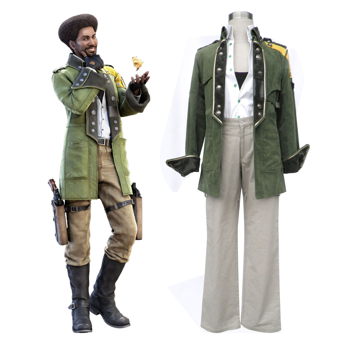 Final Fantasy XIII Sazh Katzroy 1 Cosplay Costumes AU