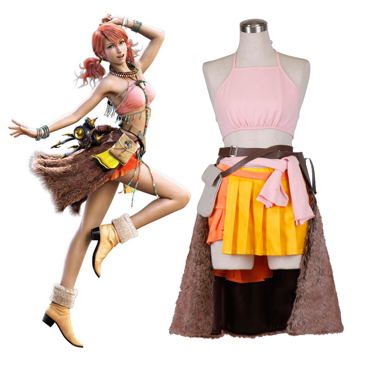 Final Fantasy XIII Oerba Dia Vanille 1 Cosplay Costumes AU