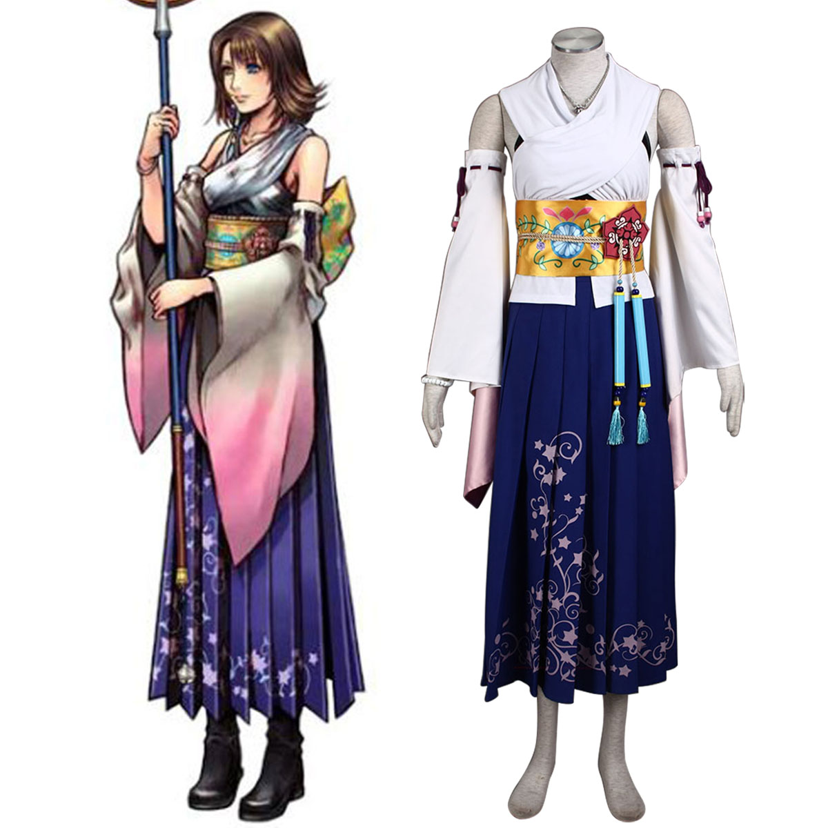 Final Fantasy X Yuna 1 Cosplay Costumes AU