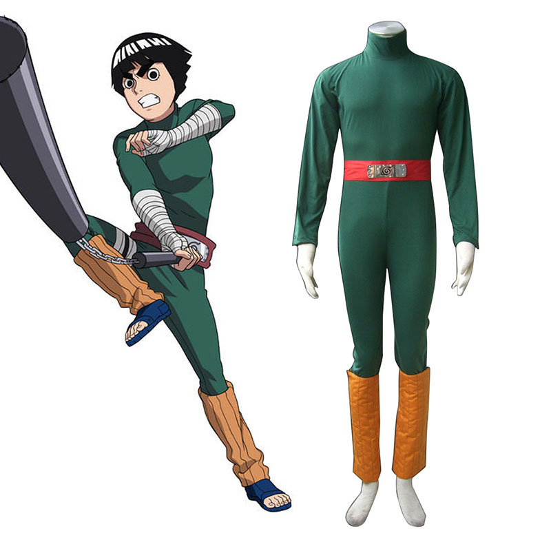 Naruto Rock Lee 1 Cosplay Costumes AU
