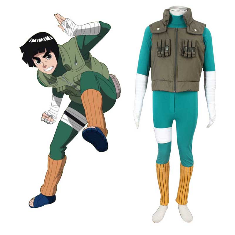 Naruto Shippuden Rock Lee 2 Cosplay Costumes AU