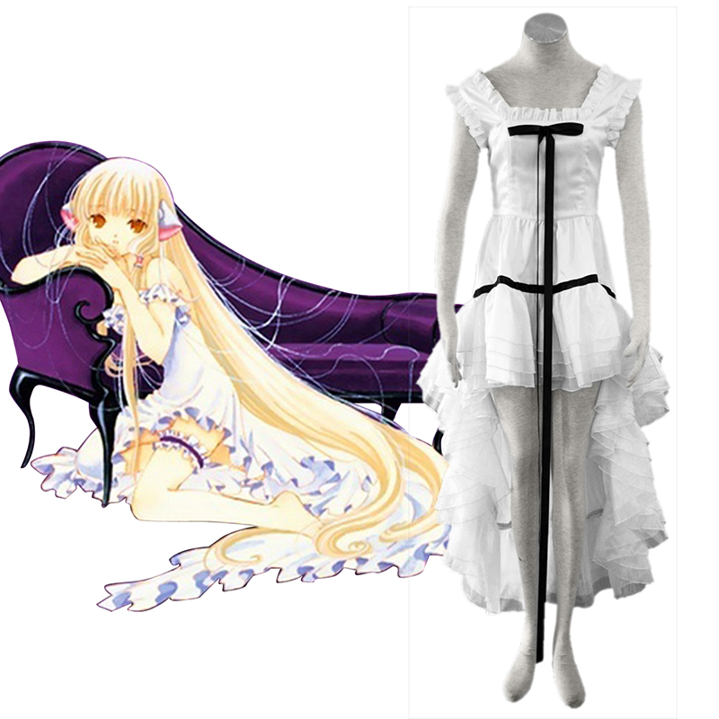 Chobits Eruda 2 White Cosplay Costumes AU