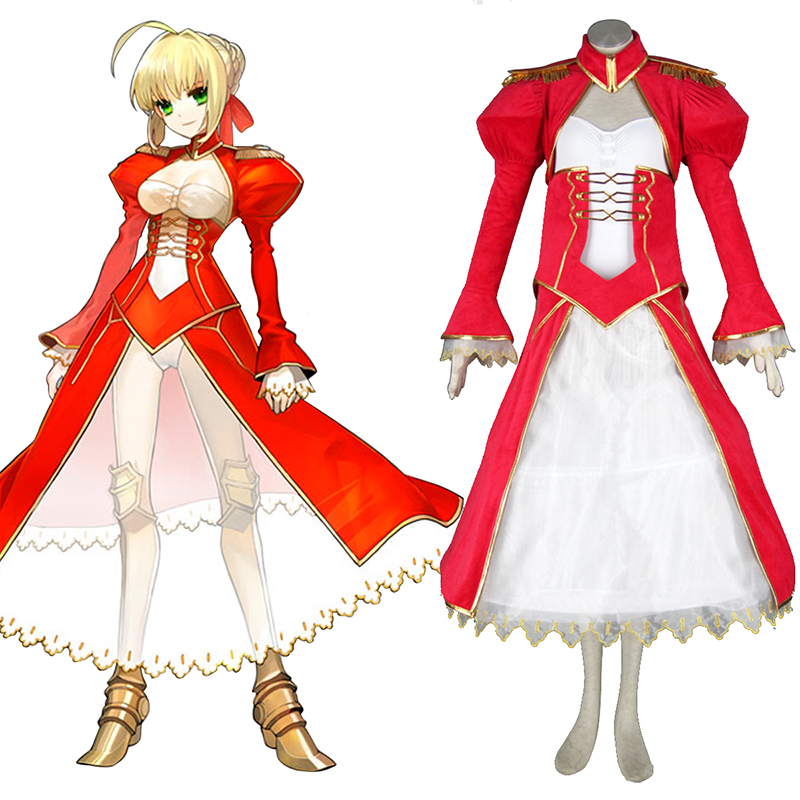 The Holy Grail War Saber 2 Red Cosplay Costumes AU