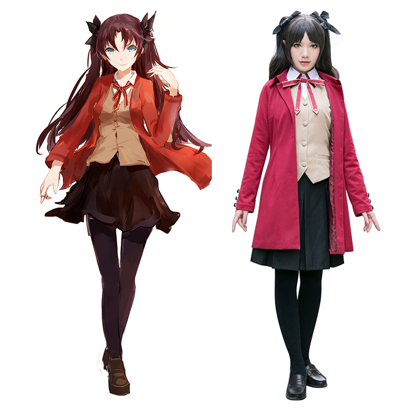 The Holy Grail War Tohsaka Rin 5 Cosplay Costumes AU