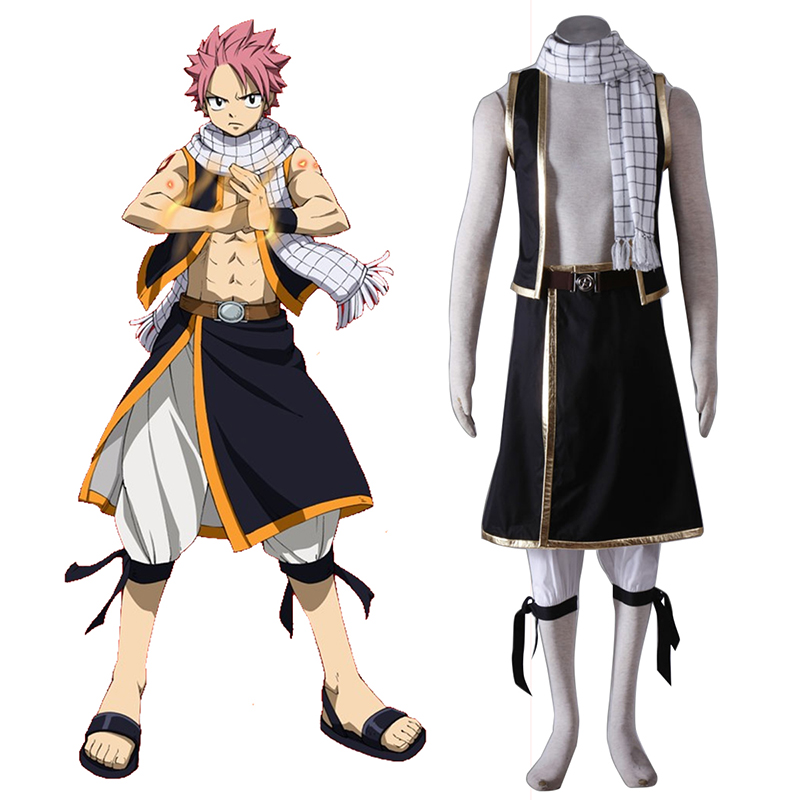 Fairy Tail Natsu Dragneel 1 Cosplay Costumes AU