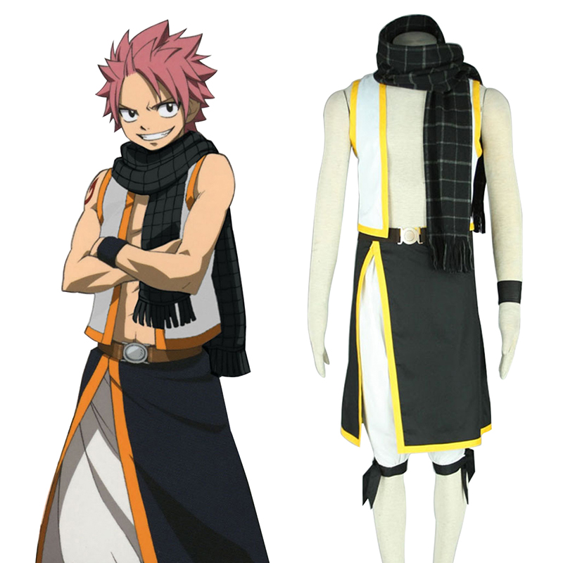 Fairy Tail Natsu Dragneel 2 Cosplay Costumes AU