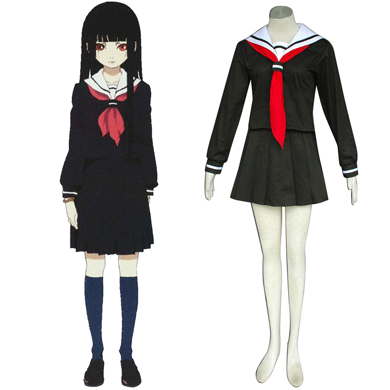 Hell Girl Enma Ai 2 Sailor Cosplay Costumes AU