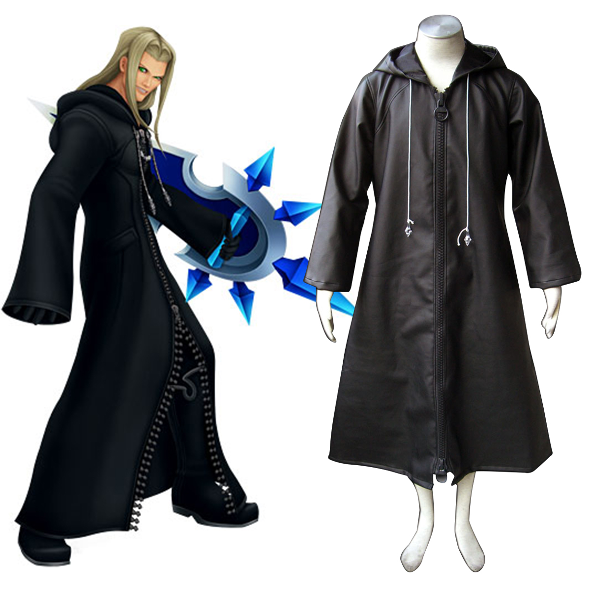 Kingdom Hearts Organization XIII Vexen 1 Cosplay Costumes AU Kingdom ... 928b594b9324