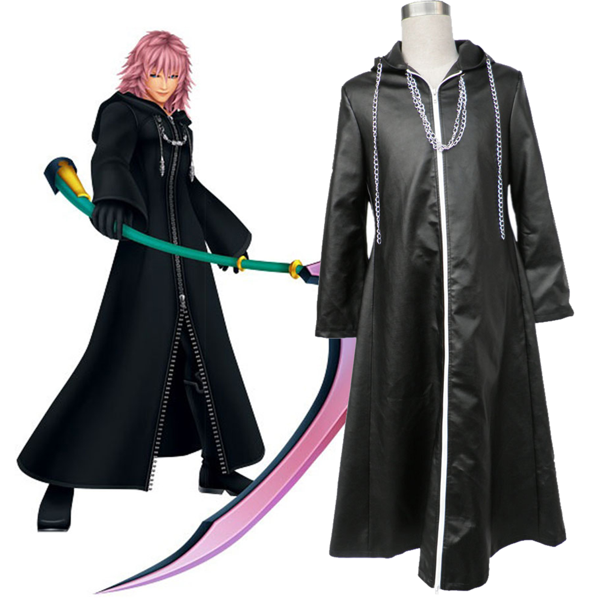 Kingdom Hearts Organization XIII Marluxia 2 Cosplay Costumes AU