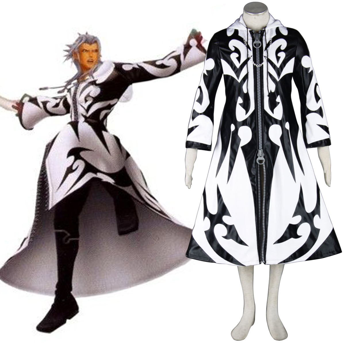 Kingdom Hearts Xemnas 1 Cosplay Costumes AU
