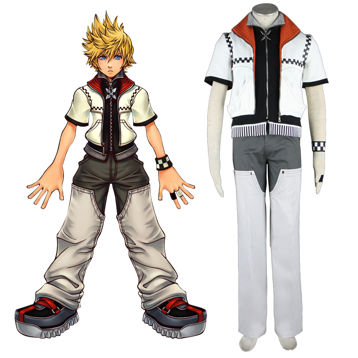 Kingdom Hearts Roxas 1 Cosplay Costumes AU