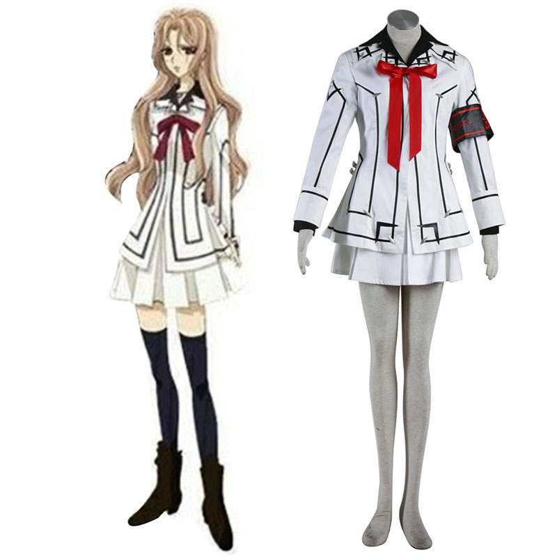 Vampire Knight Night Class White Female School Uniform Cosplay Costumes AU