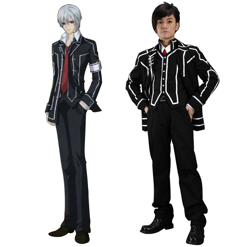 Vampire Knight Day Class Black Male School Uniform Cosplay Costumes AU