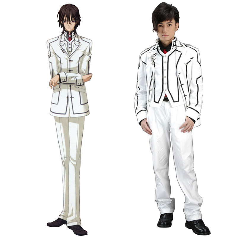 Vampire Knight Night Class White Male School Uniform Cosplay Costumes AU