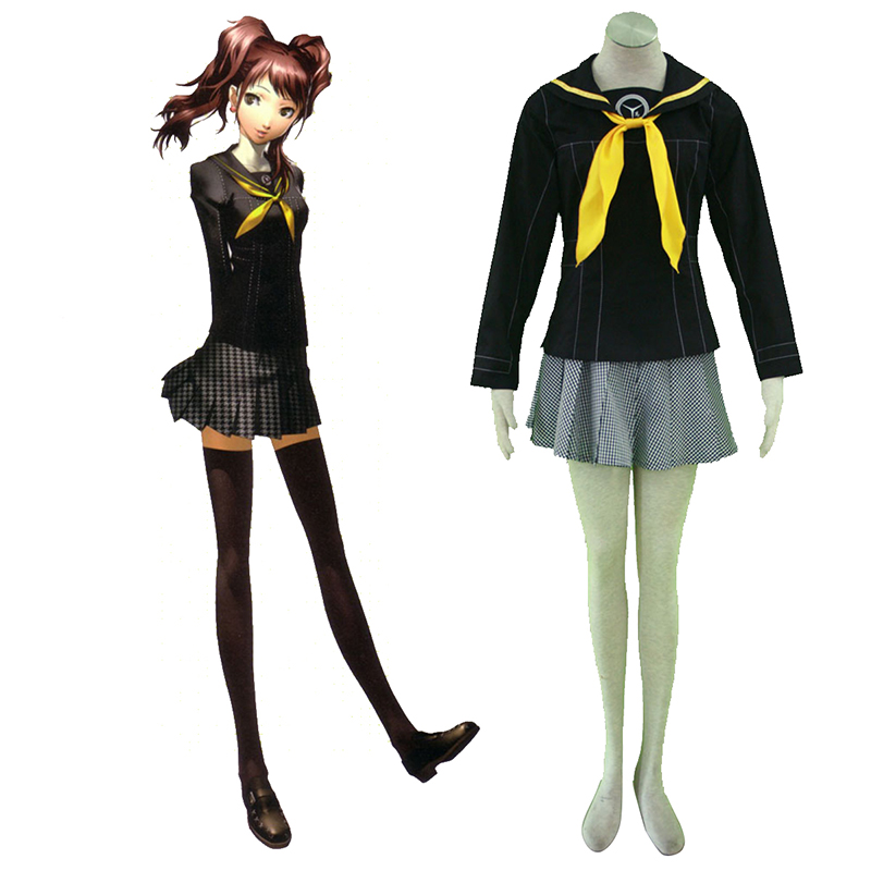 Shin Megami Tensei: Persona 4 Winter Female School Uniform Cosplay Costumes AU