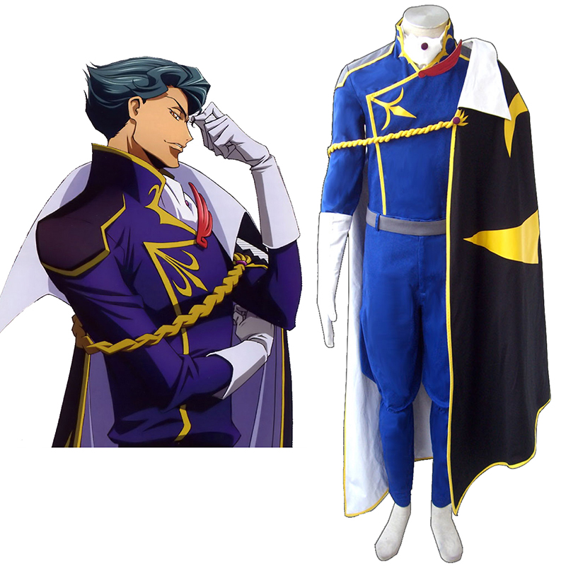 Code Geass Jeremiah Gottwald Cosplay Costumes AU