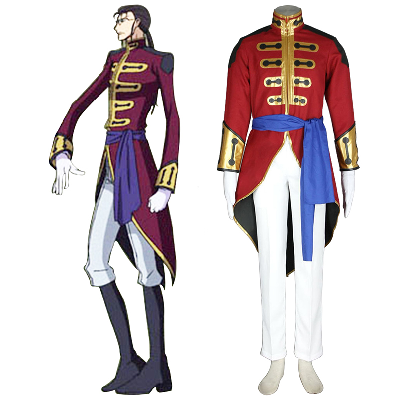 Code Geass Gilbert G.P. Guilford Cosplay Costumes AU