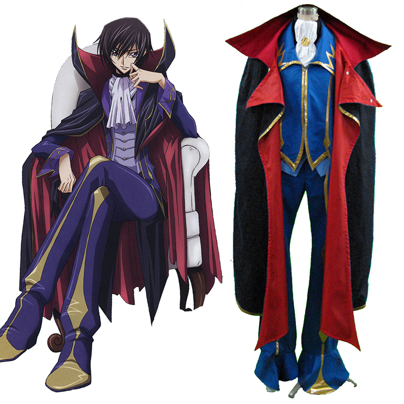 Code Geass Lelouch Lamperouge ZERO 2 Cosplay Costumes AU
