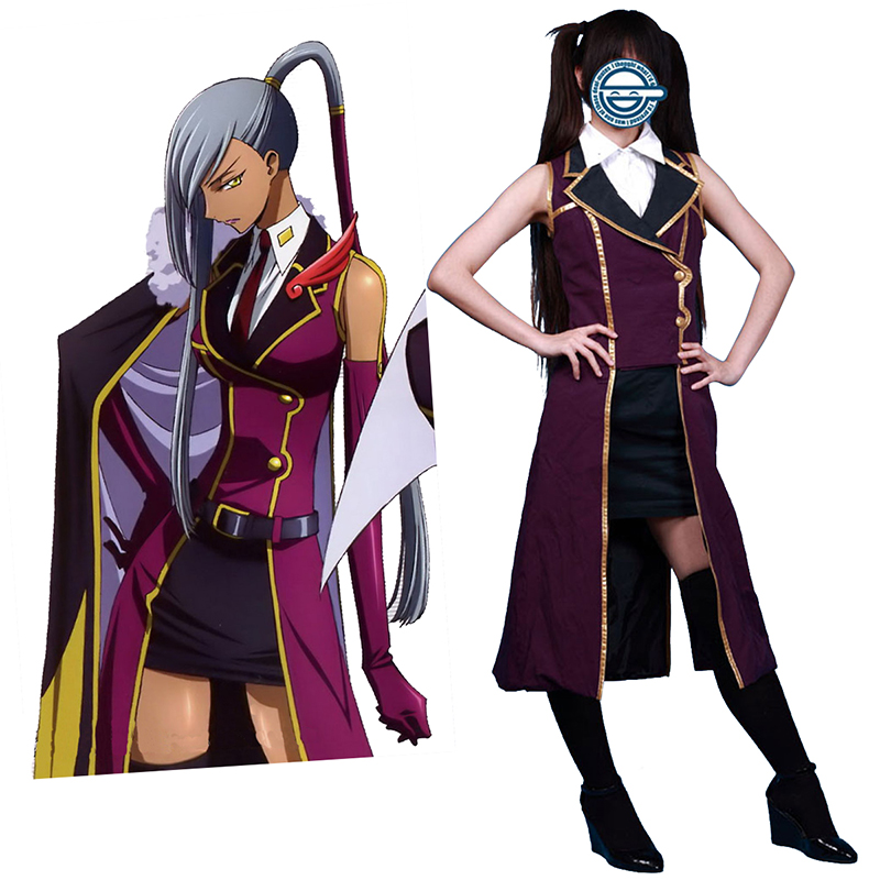 Code Geass Villetta Nu 1 Cosplay Costumes AU