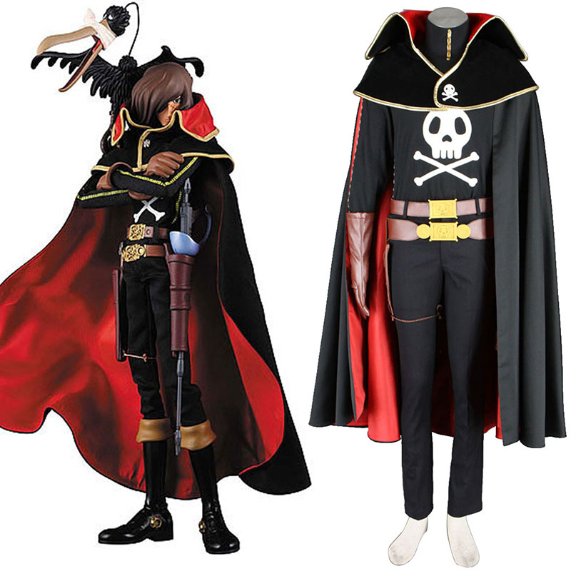 Galaxy Express 999 Captain Harlock Cosplay Costumes AU