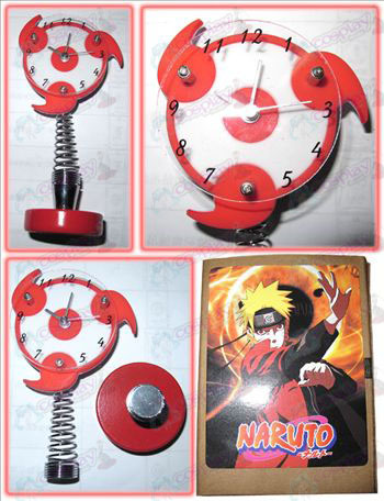 Naruto write round eyes small alarm clock