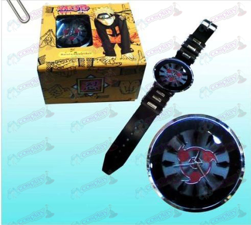 Naruto Sasuke write round eyes black watches