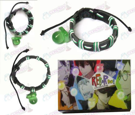 Tutoring green pacifier special edition leather strap