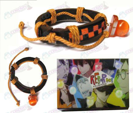 Tutoring orange pacifier special edition leather strap