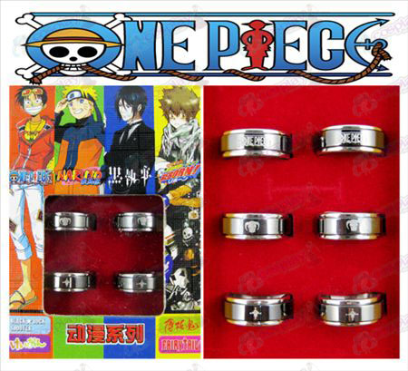 One Piece Accessories Exelon black steel rotating ring (6 / set)