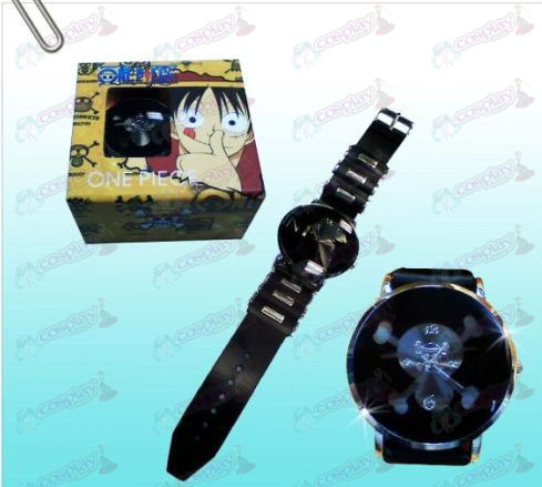 One Piece Accessories Skull Black watches