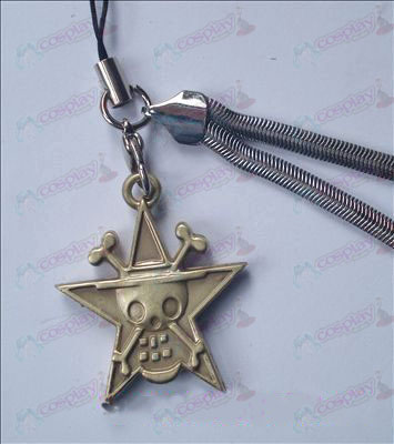 One Piece Accessories pentagram skull phone chain 32-6A (copper)