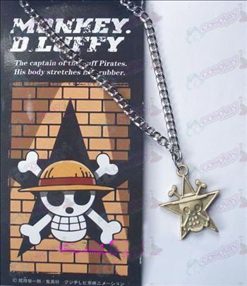 One Piece Accessories pentagram skull necklace 32-6A (copper)