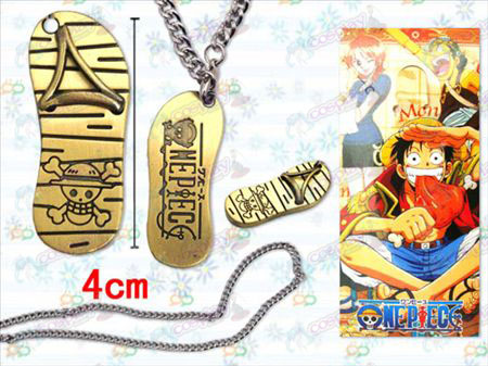 One Piece Accessories Luffy sandals iron necklace