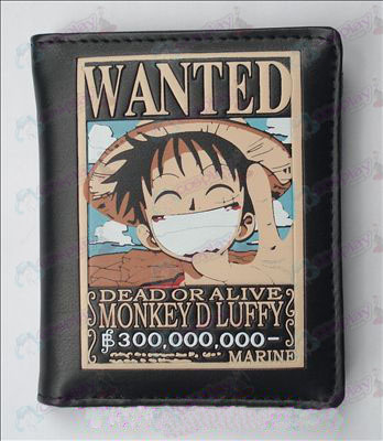 One Piece Accessories Wanted Luffy Leather Wallet (Jane)