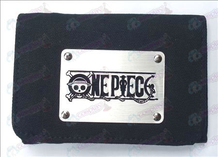 One Piece Accessories White canvas wallet