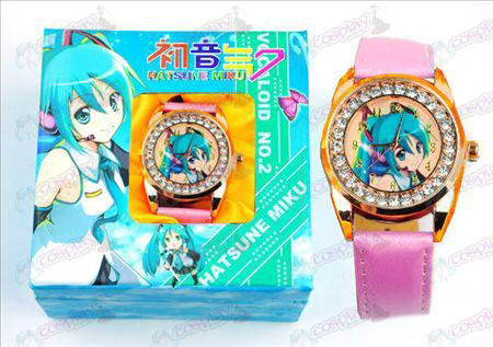 Hatsune diamond watch (yellow dial)