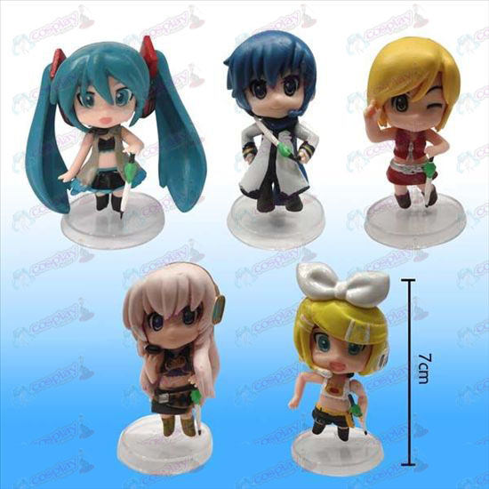 3 Generation 5 models Hatsune doll white plate