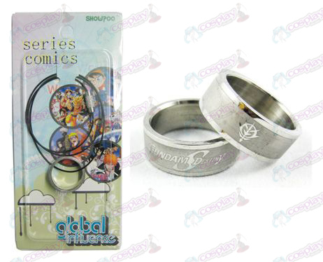 Gundam Accessories Frosted Ring Necklace - Rope