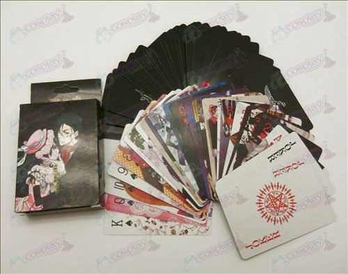 DBlack Butler Accessories embossed poker