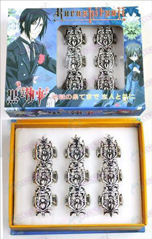 9 mounted Black Butler Accessories Rings