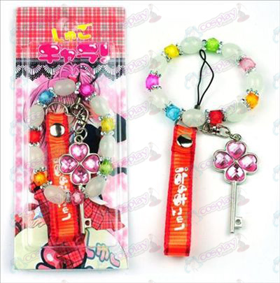 Blister card Shugo Chara! Accessories Machine Strap + Bracelet (key)