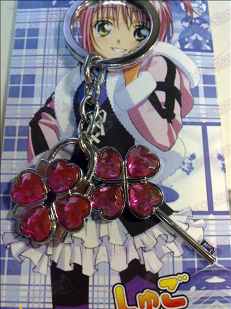 Shugo Chara! Accessories couple keychain (pink)