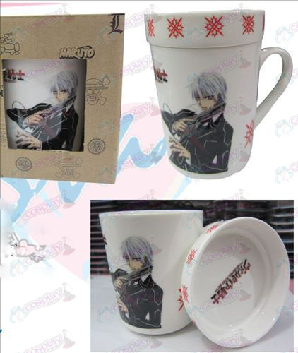 Cartoon ceramic cup (with lid) Vampire