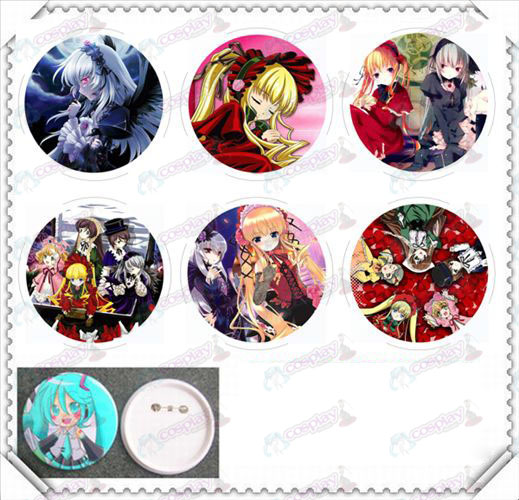 6 mounted 75MM light film badge-Rozen Maiden Accessories