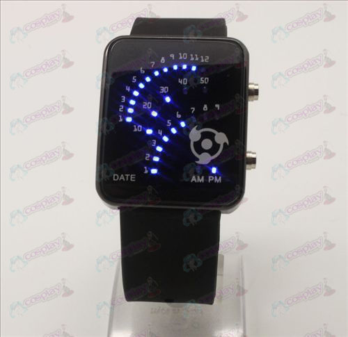 Write round eyes fan LED watch