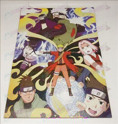 42 * 29cm Naruto 8 + card affixed posters