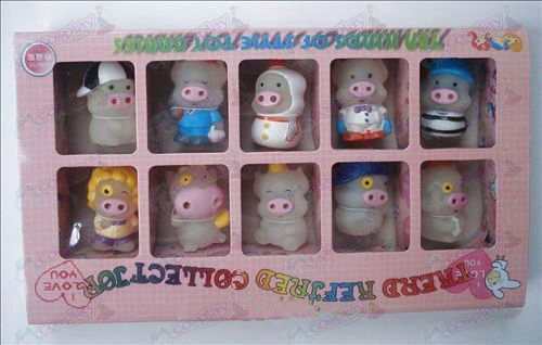 McDull pig doll transparent box