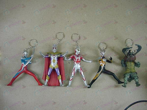 5 Generation 5 models Keychain Superman Ultraman Accessories
