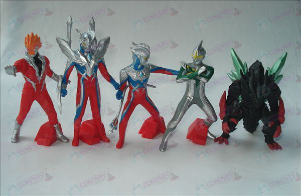 5 models Superman Ultraman Accessories