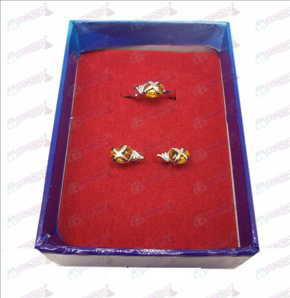 D Shakugan no Shana gemstone ring + earrings (small ring orange)